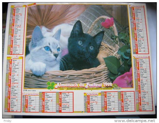 Almanach Du Facteur 1992 Département 68 En Très Bon état. Document PTT. Editions Oller - Calendriers