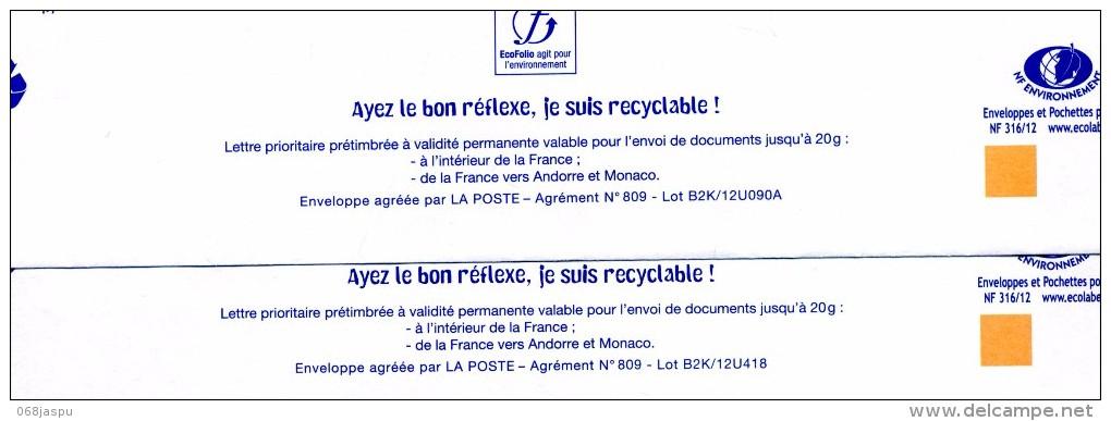 Pap Carte  Flamme Chiffree Entete RVM Anjou Becon - Entiers Postaux