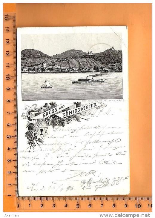 KÖNIGSWINTER: : Lithographie, Gruss, - Koenigswinter
