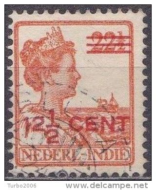 Ned. Indië: Langebalkstempel BLORA Op 1921-1922 Hulpuitgifte Koningin Wilhelmina 12 ½  / 22 ½  Ct  NVPH 143 - Indes Néerlandaises