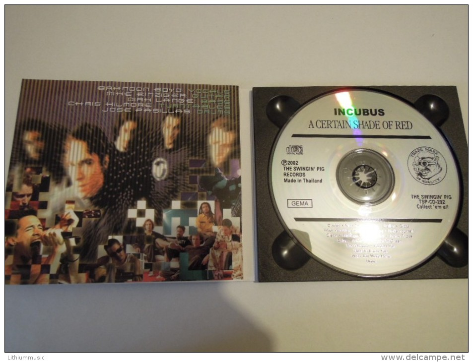 Incubus - A Certain Shade Of Red - Swingin Pig 292 Thailand - Hard Rock & Metal