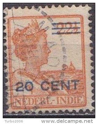 Ned. Indië: Langebalkstempel MAOS Op 1921-1922 Hulpuitgifte Koningin Wilhelmina 20  / 22 ½  Ct  NVPH 144 - Nederlands-Indië