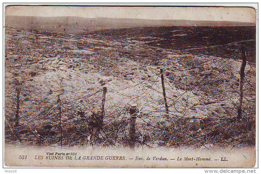 MILITARIA . GUERRE 1914.1918. LES RUINES DE LA GRANDE GUERRE .ENVIRONS DE VERDUN . LE MORT HOMME - War 1914-18
