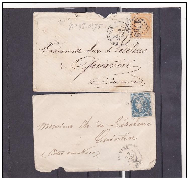 141 - Lettre  Cérès Gouvernement Provisoire N° 46 Et Siège De Paris N° 38 - Marcophilie (Lettres)