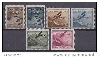 Liechtenstein 1930 Airmail 6v ** Mnh (21753) - Luchtpostzegels