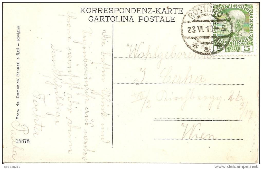 1910 - ROVINJ, ROVIGNO, Gute Zustand, 2 Scans - Croatia