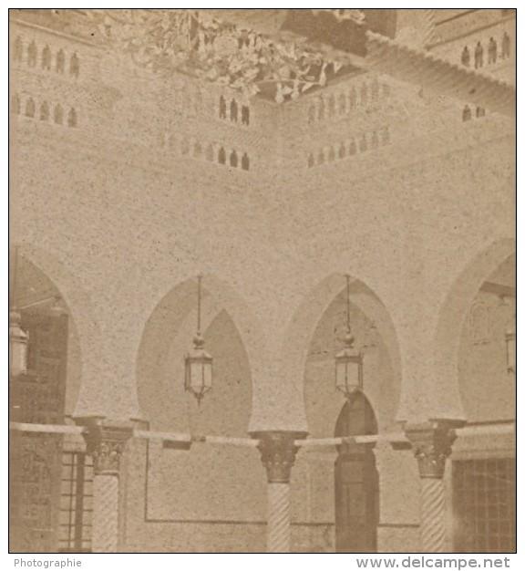 Alger Palais Du Gouverneur Algerie Ancienne Photo Stereo 1890 - Stereoscopic