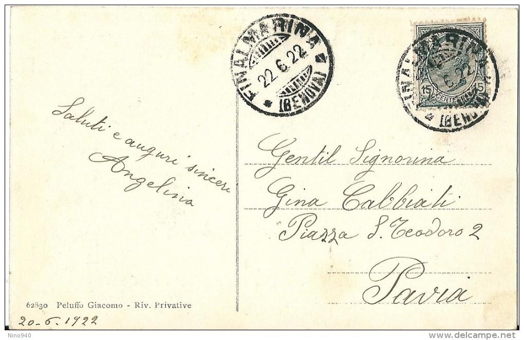 FINALMARINA (SV) - PANORAMA DAL MARE - F/P - V: 1922 - Savona
