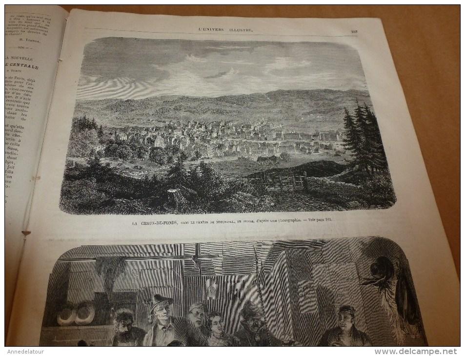 1868 TURIN-gare;La-Chaux-de-Fonds ;Joute Du HAKELN;Foire Aux Jambons Bvd Bourdon;Chanson Sarah-la-Grise;TABOGA (Panama); - Non Classés