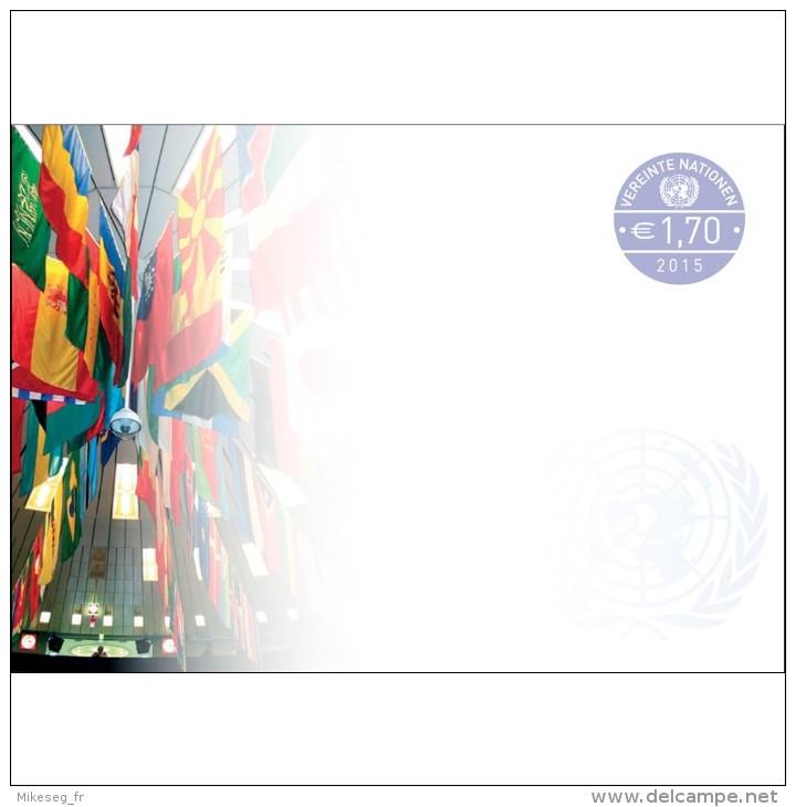 ONU Vienne 2015  - Enveloppe Pré-timbrée €1,70 ** - FDC