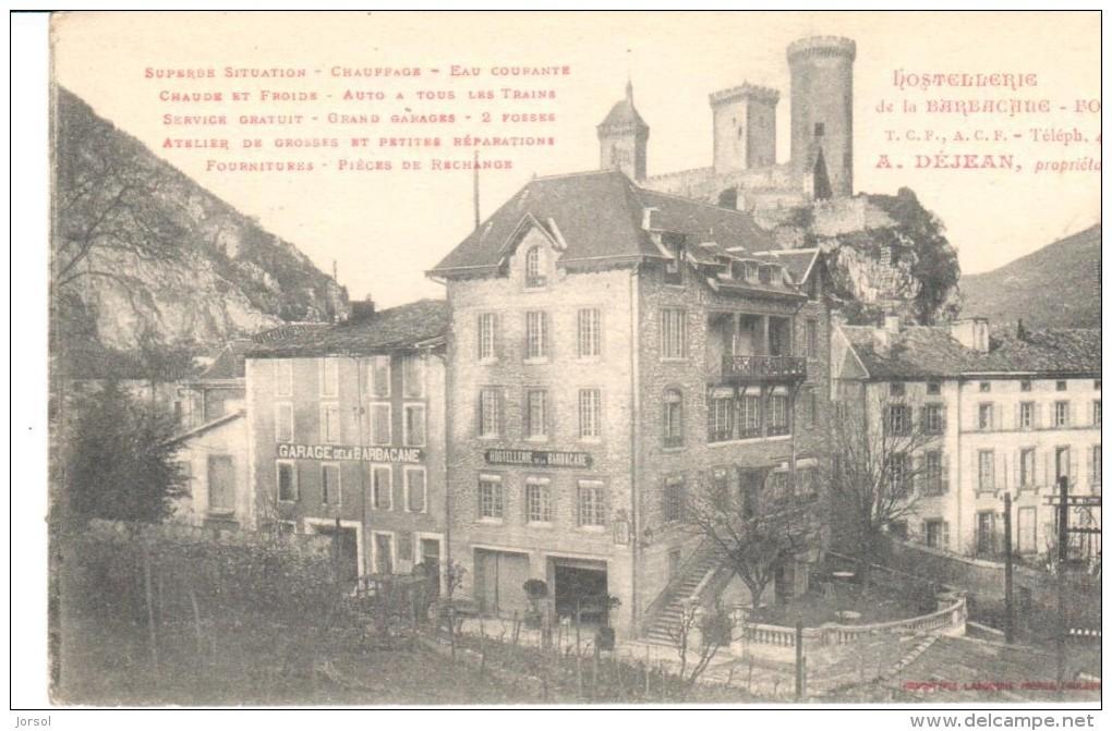 POSTAL   FOIX  - FRANCIA  - HOTEL BARBAÇANE - Foix