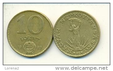 4-1482. Moneda Hungria. 10 Forint 1989. BC - Hungría