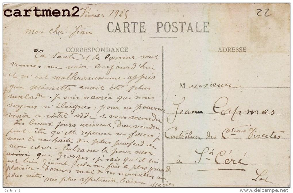 CAZALS LE CAFE ALAZARD ANIME ATTELAGE EPICERIE CAFE DE PARIS BILLARD 46 LOT - Cazals