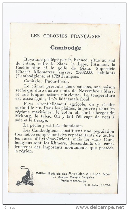 CPA CAMBODGE - COLONIES FRANCAISES - TB CP Illustrée Carte Géographique , Portrait Souverains DANSE , Etc...LION NOIR - Cambodia
