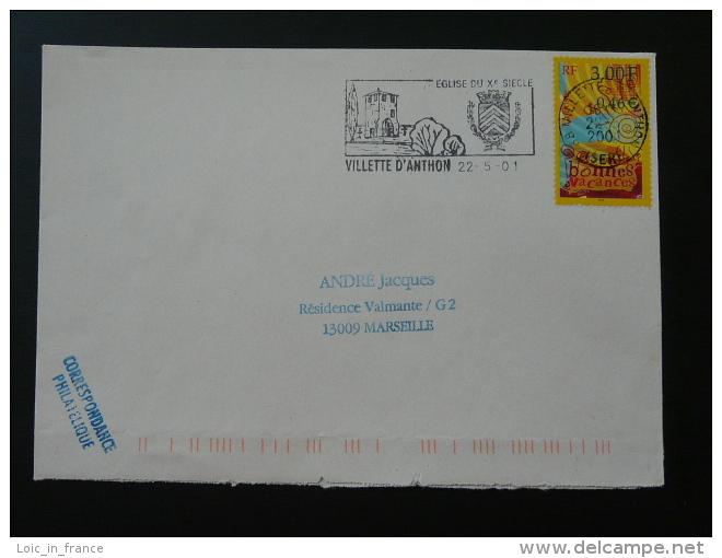 38 Isere Villette D'Anthon 2001 - Flamme Sur Lettre Postmark On Cover - Marcophilie (Lettres)