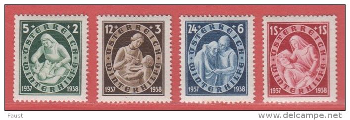 1937  ** (sans Charn., MNH, Postfrish)  Yv  499/02Mi  642/5ANK 642/5 - 1918-1945 1. Republik