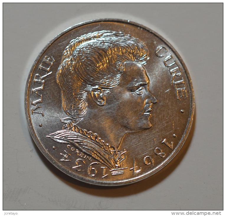 100 Francs Marie Curie Argent - N. 100 Francs