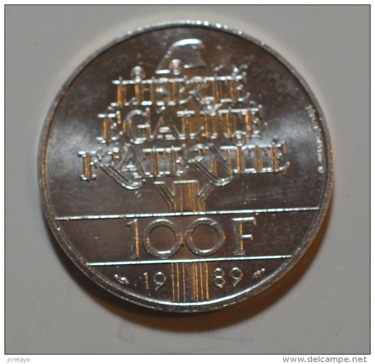 100 Francs Droits De L'homme Argent - N. 100 Francs
