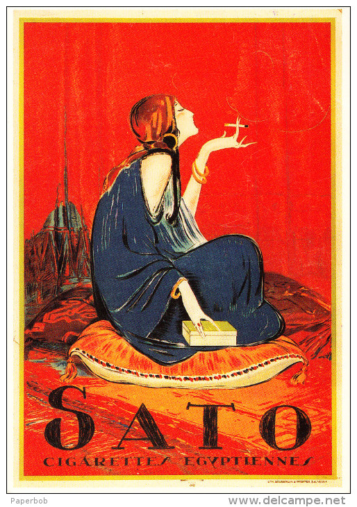 SATO CIGARETTES , REPRODUCTION - Advertising