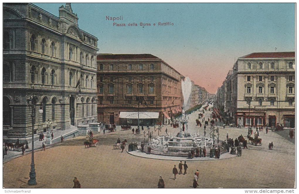AK Neapel Napoli Piazza Della Borsa Rettifilo Boerse Börse Bei Torre Greco Pozzuoli Afragola Casalnuovo Caserta Sorrento - Napoli (Naples)