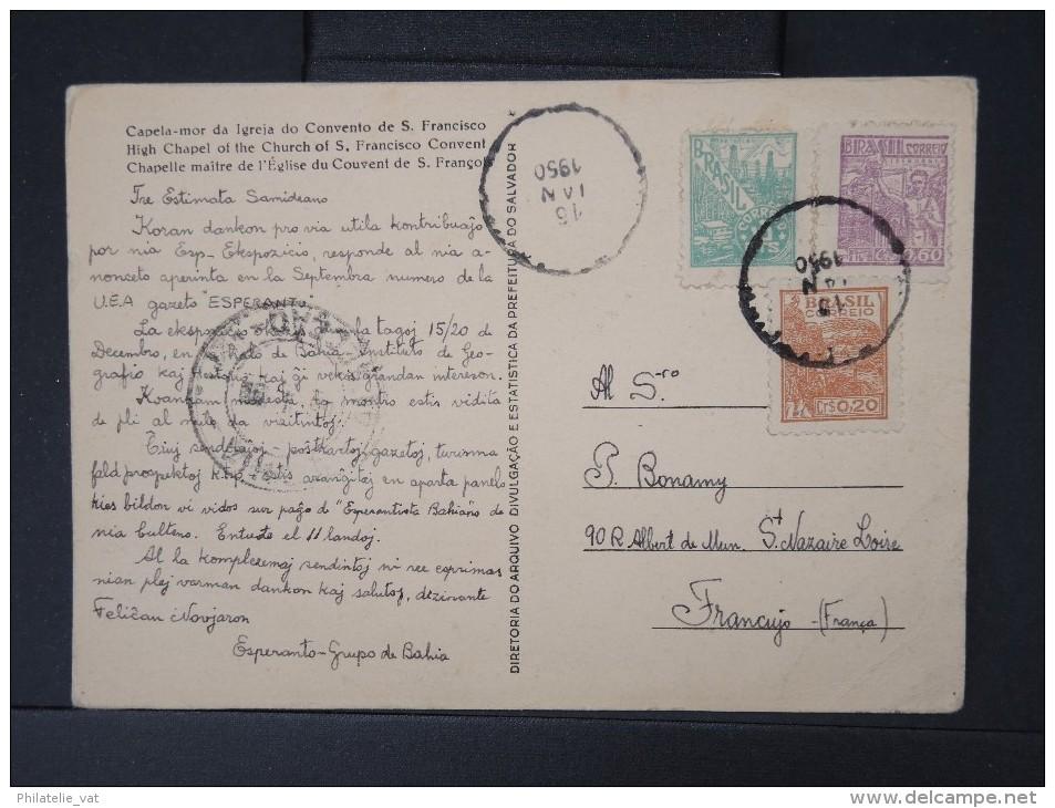 ESPERANTO-Carte Postale Du Bresil En Esperanto Pour La France En 1950  A Voir   LOT P5081 - Esperanto