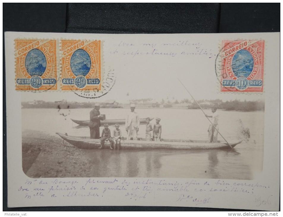 BRESIL- Rare Carte Photo  Du Photographe  F.DU BOCAGE En Train De Photographier Cp Voyagé En 1906  -A Voir - Lot P5114 - Brazil