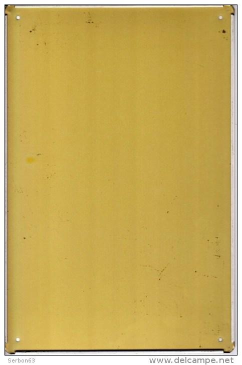 1 PLAQUE EN TOLE LITHOGRAPHIEE - LARG. 19,5cm HAUT. 29,5cm - LA BALOISE ASSURACE SUR LA VIE 12, RUE DE CHATEAUDUN PARIS - Plaques Publicitaires