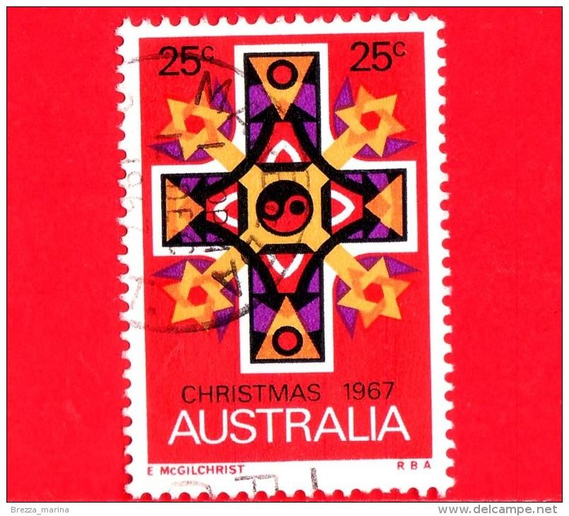 AUSTRALIA - Usato - 1967 - Natale - Christmas - Croce - Cross, Stars Of David - 25 - 1966-79 Elizabeth II
