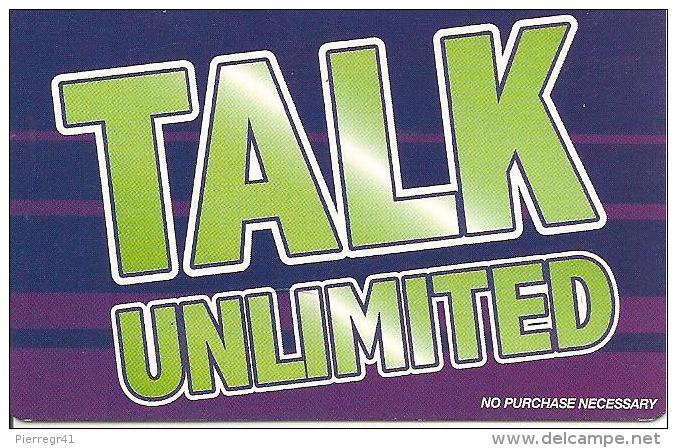 CARTE-PREPAYEE-IRLANDE-TALK UNLIMITED-31/09/05--PAPIER -GRATTE-TBE - Irlande