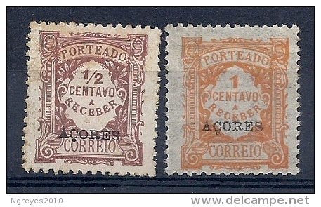 140020245  AZORES  PORTUGAL  YVERT  TAXE  Nº   15/6  */MH - Azores