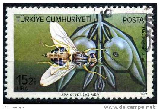 Turkey 1982 - 2612 O, The Olive Fruit Fly (Bactrocera Oleae, Dacus Oleae) | Harmful Insects - Used Stamps