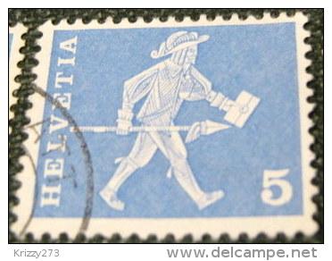 Switzerland 1960 17th Century Cantonal Messenger From Fribourg 5c - Used - Switzerland