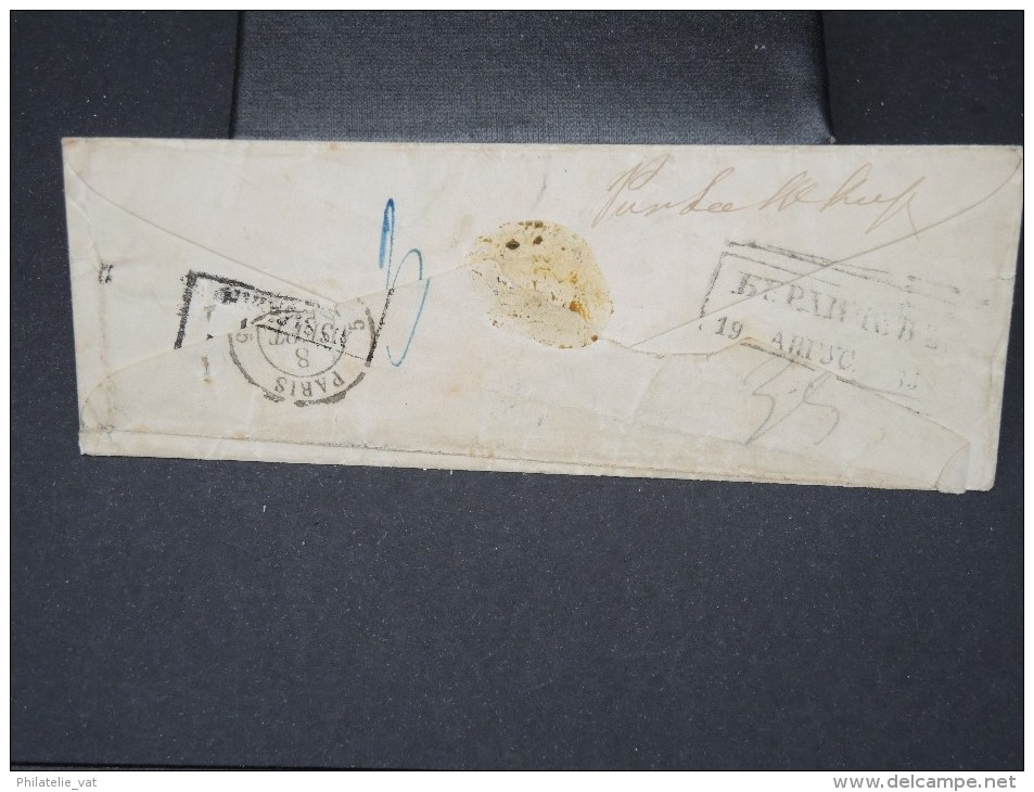 RUSSIE- Enveloppe Pour La France  A Voir Nombreux Cachets   1858     Pas Courant LOT P5129 - 1857-1916 Imperium