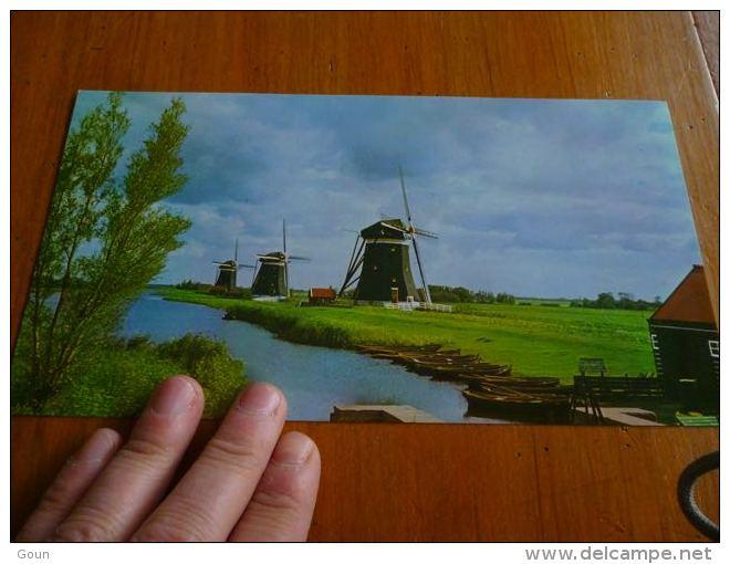 CB6 LC114 KLM Royal Dutch Airlines - Carte Touristique Holland Moulins Molen - Papiere