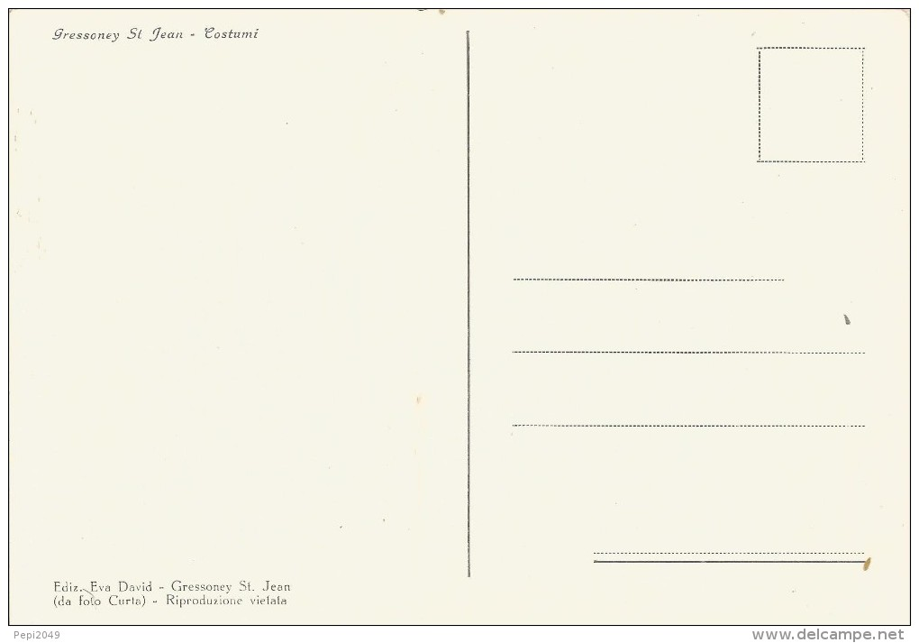 PP614 - POSTAL - GRESSONEY ST. JEAN - COSTUMI - Postales