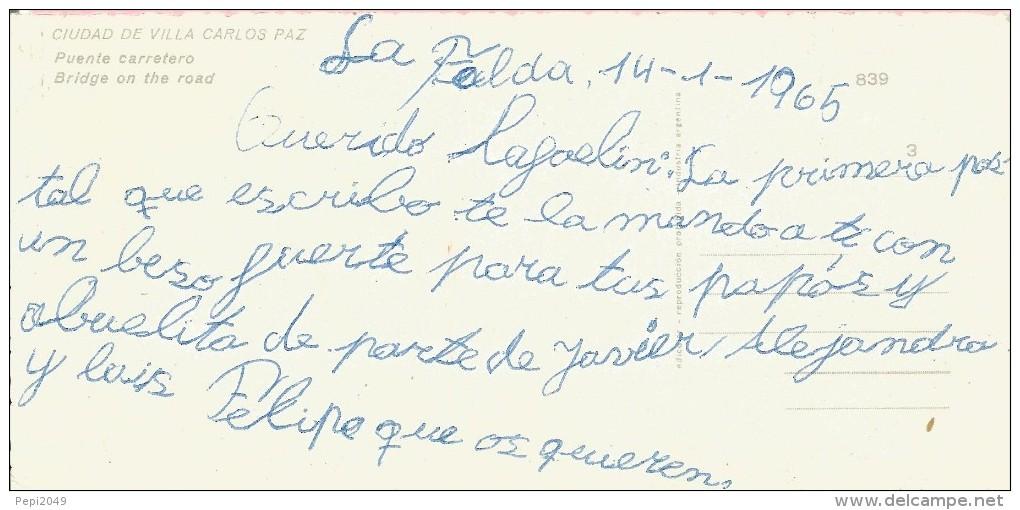 PP619 - POSTAL - CIUDAD DE VILLA CARLOS PAZ - PUENTE CARRETERO - Argentina