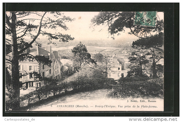 CPA Avranches, Bourg-l'evêque, Vue Prise De La Plate-forme - Avranches