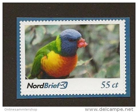 Privatpost - NordBrief  Allfarblori (Trichoglossus Haematodus) - Papegaaien, Parkieten
