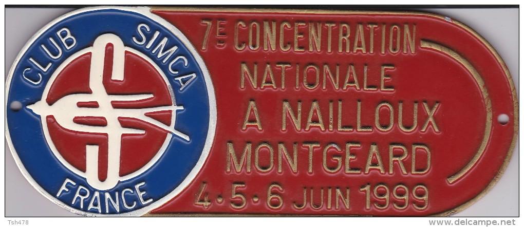 CLUB SIMCA FRANCE--7e Concentration Nationale A Nailloux Montgeard-4.5.6.juin 1999---voir 2 Scans - Automobile - F1