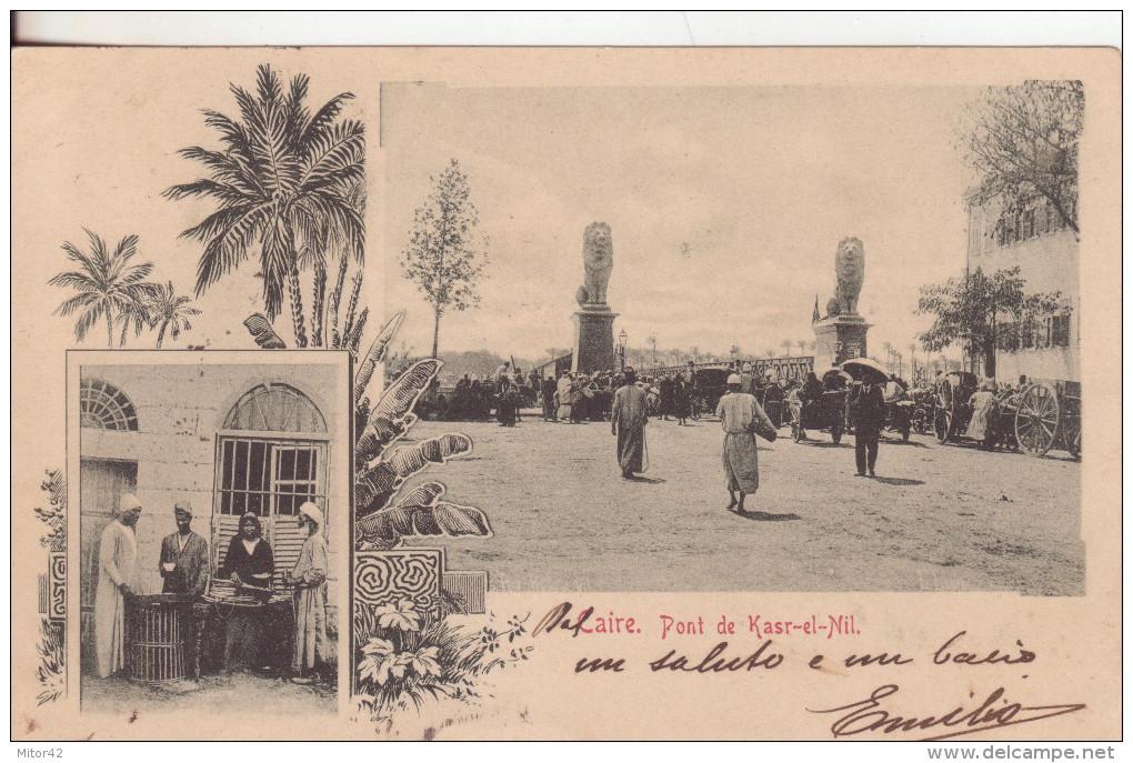 52-Tematica Folklore-Mestieri-Egitto-Venditori Di Generi Alimentari-v.1901 X Milano - Costumi