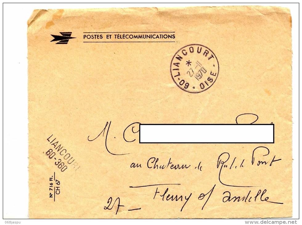 Devant De Lettre Dispense  Cachet Liancourt - Storia Postale