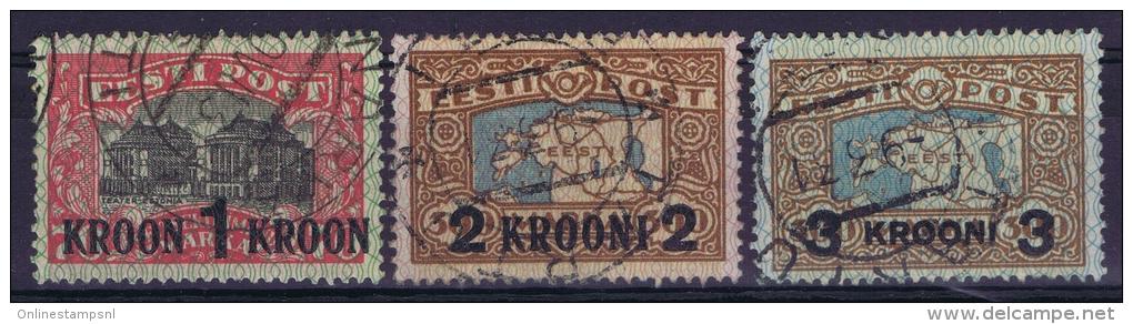 Estland:  Mi Nr 87-89 Used 1930 - Estland