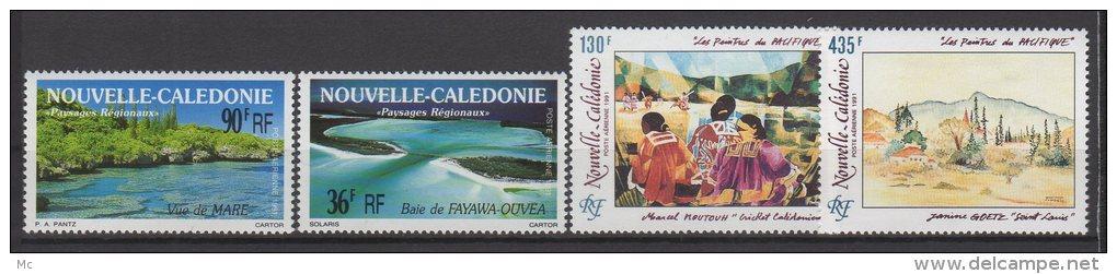 Nvelle Calédonie - Année 1991 Complète - Poste  Aérienne Luxe ** - Komplette Jahrgänge
