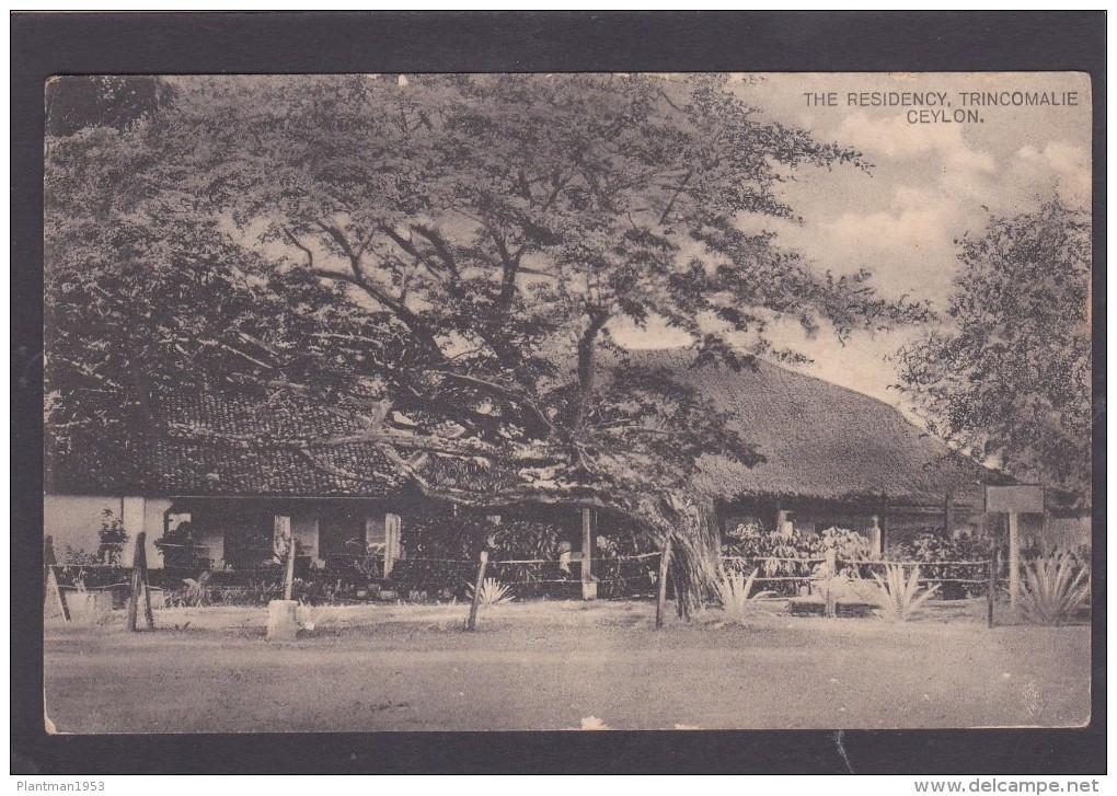 Antique Card, The Residency, Trincomalie, Ceylon, K5. - Sri Lanka (Ceylon)