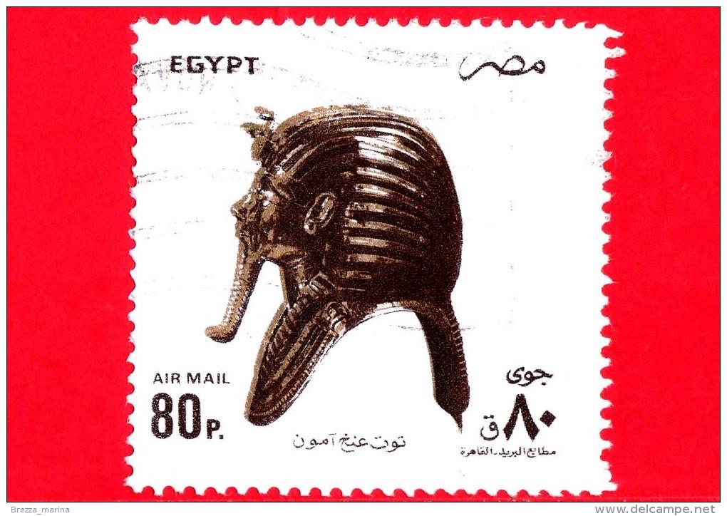 EGITTO - Usato - 1993 - Opere Storiche - Maschera Funeraria Del Re Toutankamon - 80 P. Aerea - Posta Aerea