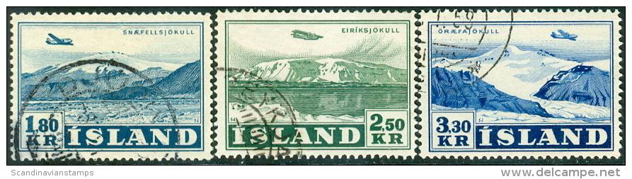 IJsland 1952 Luchtpost Serie GB-USED. - 1944-... Republik
