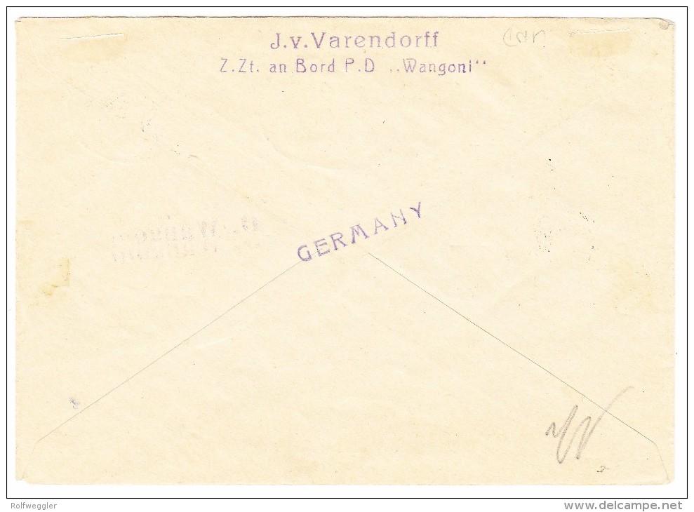 """Seychellen """"Deutsche Seepost Ost Afrika Linie 3.12.1931"""" Mit 2x2C. + 6C. Auf Brief Nach Berlin (Bord Der PD D.Wangoni) - Seychelles (...-1976)"""