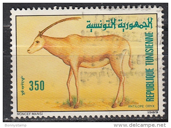 Tunisia, 1989 -  350m Oryx - Nr.962 Usato° - Francobolli