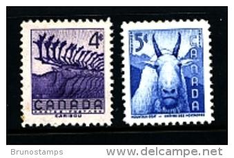 CANADA - 1956  NATIONAL WILDLIFE  WEEK  SET  MINT NH - 1952-.... Regno Di Elizabeth II
