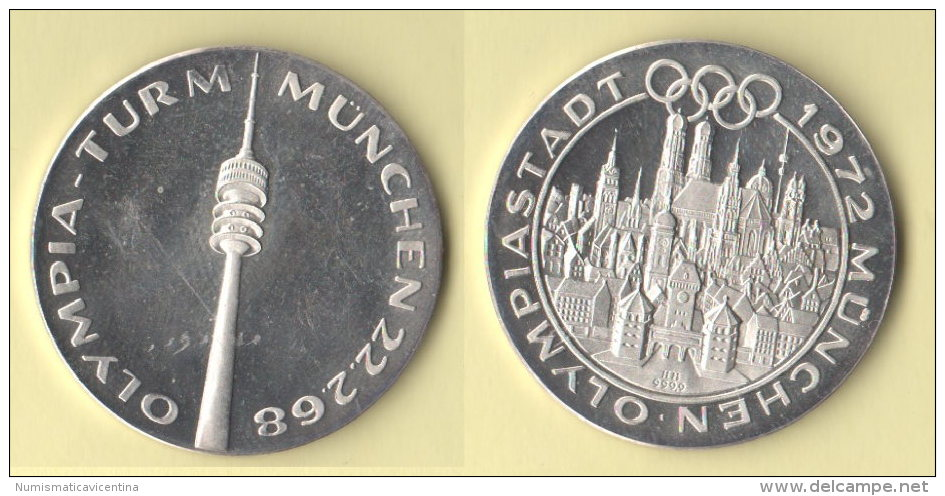 München Olympiastadt 1972   Medaille - Altri